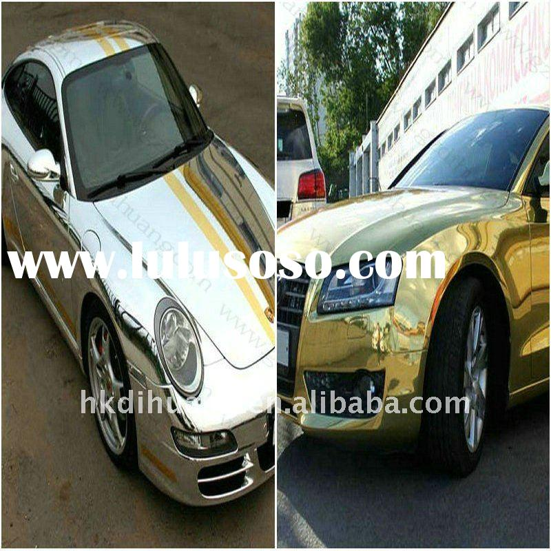Metallic gold/silver foil colour chrome wrap for car body 1.35*20m/1.52*20m