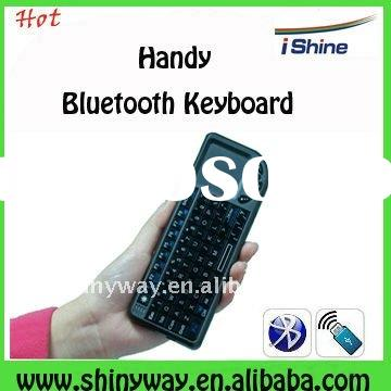 Mini Bluetooth Wireless Keyboard with Multi-touch pad,laser pointer and backlight