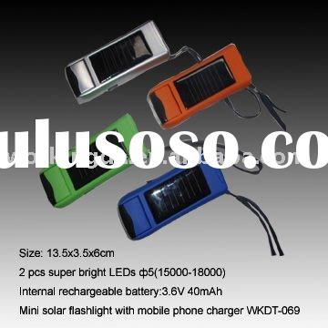 Mini Handheld LED Self Powered Flashlight With USB Mobile Phone Charger ,