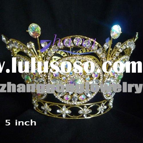 Miss world 2011 round crystal pageant crown