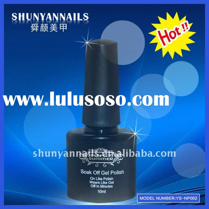 Nail art uv led soak off gel polish