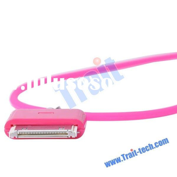 New Silicone Neck Lanyard Strap for iPhone 4(Hot pink)