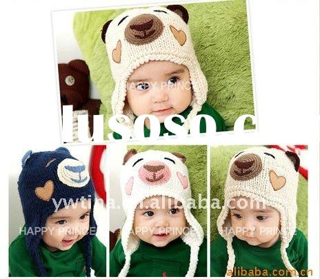 New arriaval!Lovely Animal Designs Handmade Crochet Baby Hat/Knitted Hat/Crochet Hat