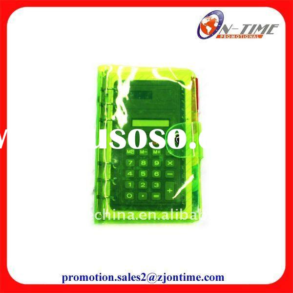 New design PVC cover promotional notebook with calculator
