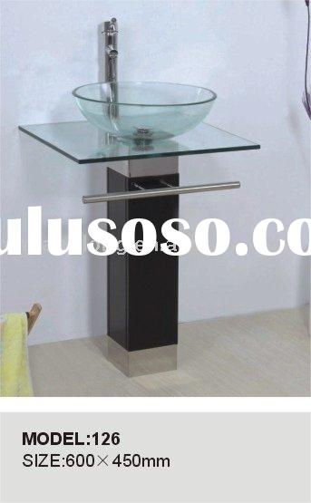 New style Bathroom glass basin, glass sink, glass vanity