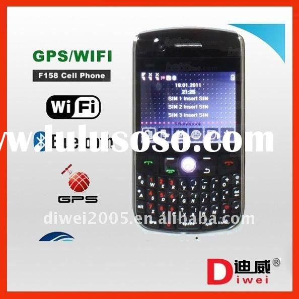 New triple sim card mobile phone F158 DVB-T wifi