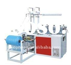PE/CPE Round Rubber Band Shoe Cover Bag Making Machine