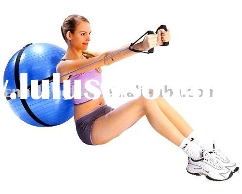 PVC gym ball with strap