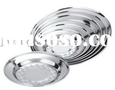 P 4 stainless steel dinner plates with 410 ss magnetic