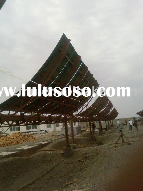 Parabolic Trough Solar Collector With Fish Bones Tracking Frame