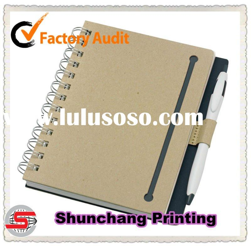 Personalized spiral binding cardboard notebook printing