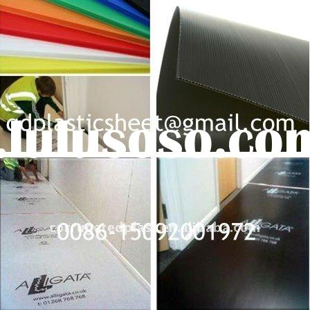 Plastic Polypropylene Fluted Sheet for Floor Protection