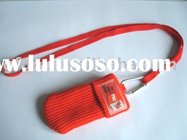 Promotion cell phone pouch with lanyard