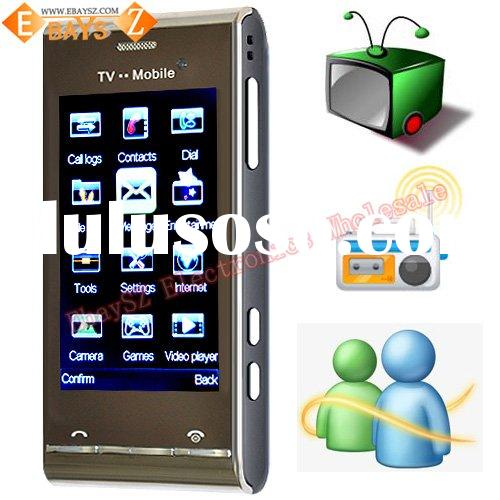 Quad-band 3.0-inch Touch Screen Dual SIM Cards Dual Standby Digital TV Mobile Phone U1