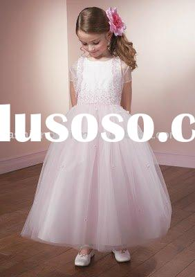 RG013 Fashion pink little children wedding dress Flower girl dresses