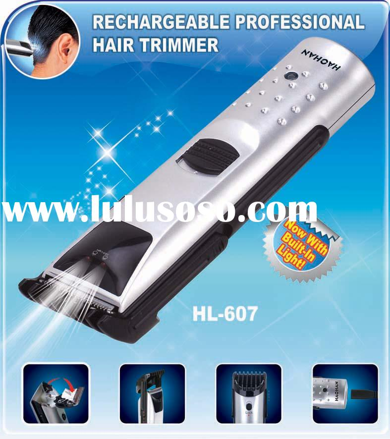 Rechargeable with LED light hair clipper