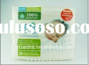 SAFETIES NATURAL NAPPY with super soft surface,breathable cloth-lke bottom film,full frontal tape.