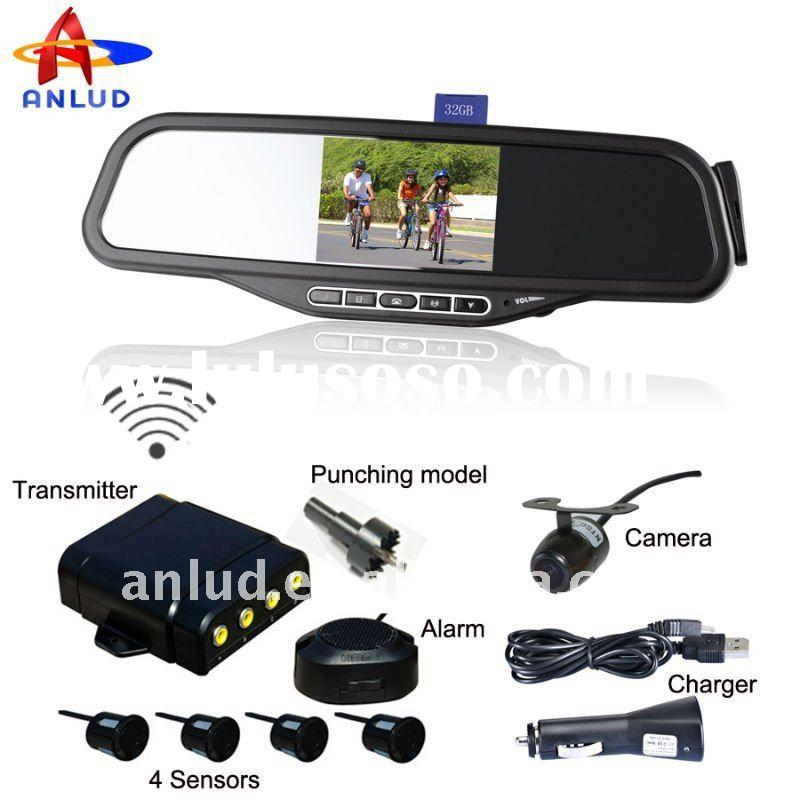 SALE!!! ALD100C Car accessory with wireless camera +parking sensor+Bluetooth mirror + TFT monitor+ w