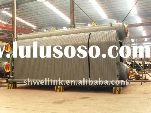 SZL double drum shop assembled water-tube biomass fired hot water boiler