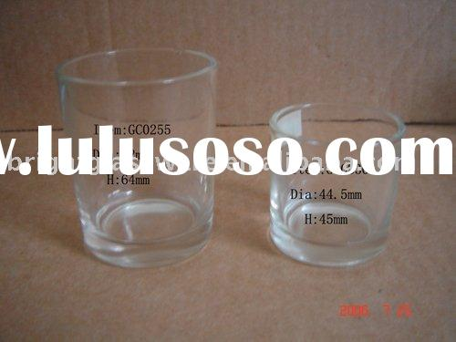 Shot Glass and Glass candle holder cup