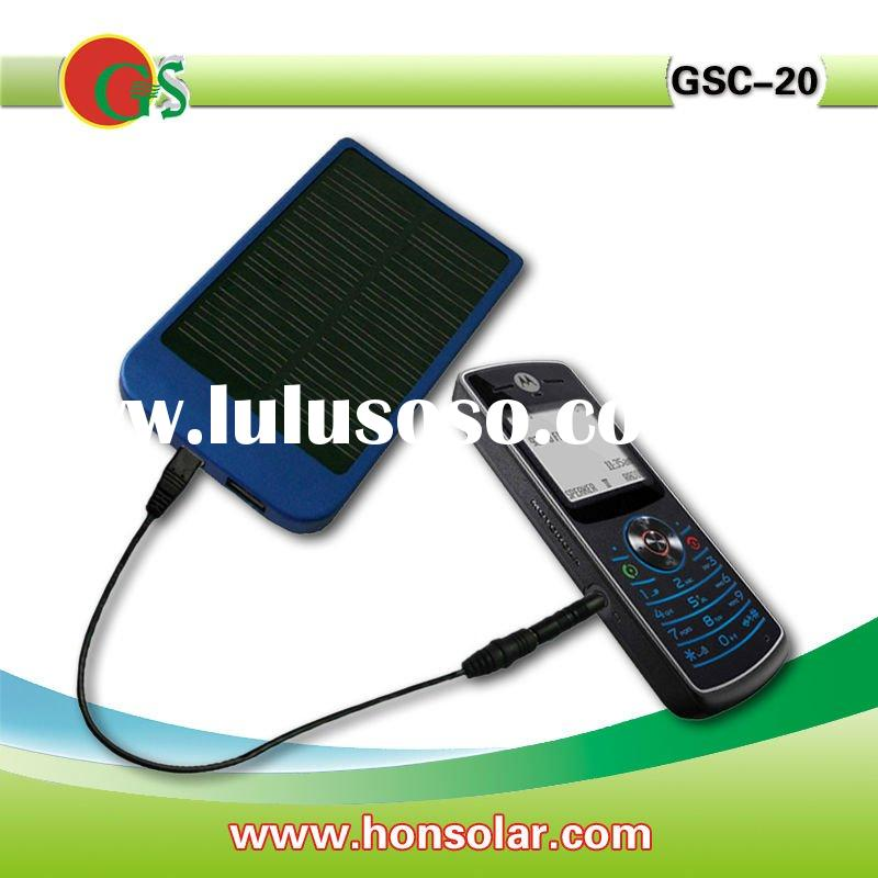 Solar mobile phone battery charger with 2600mah battery,