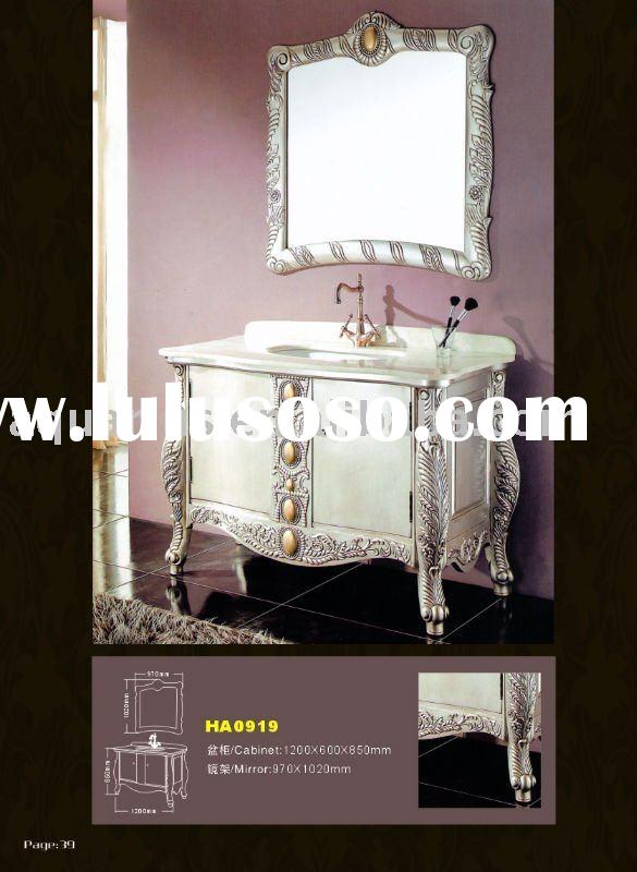 Solid Wood New style Antique Bathroom Cabinet
