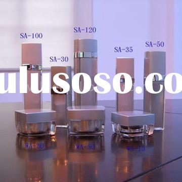 Square Acrylic Jars, Lotion Bottles and Airless Pump Bottles