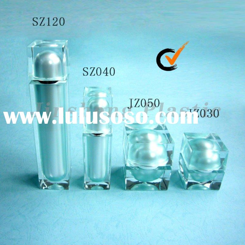 Square Cosmetic Acrylic Jars and Bottles for Skin Care