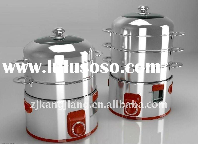 Stainless Steel Electric Vegetable Steamer ~ W layers stainless steel food steamer with ce cb ccc