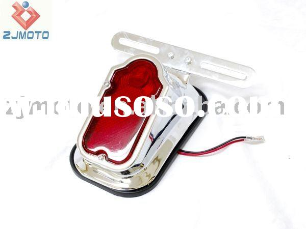 Tombstone Taillight Assembly Chrome Fits Harleys, Choppers, Custom High quality Chrome Tail light fa