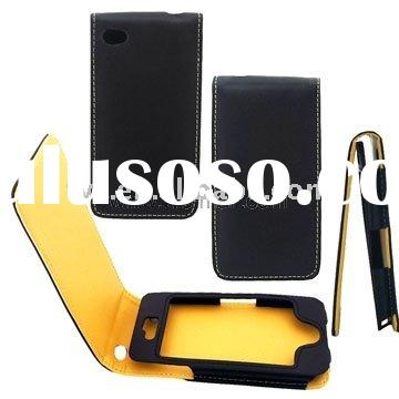 Top Quality Man-made Leather Flip Case For iPhone 4G