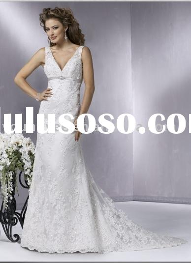 Top quality all over tull and lace A-line wedding dress (WD10157)