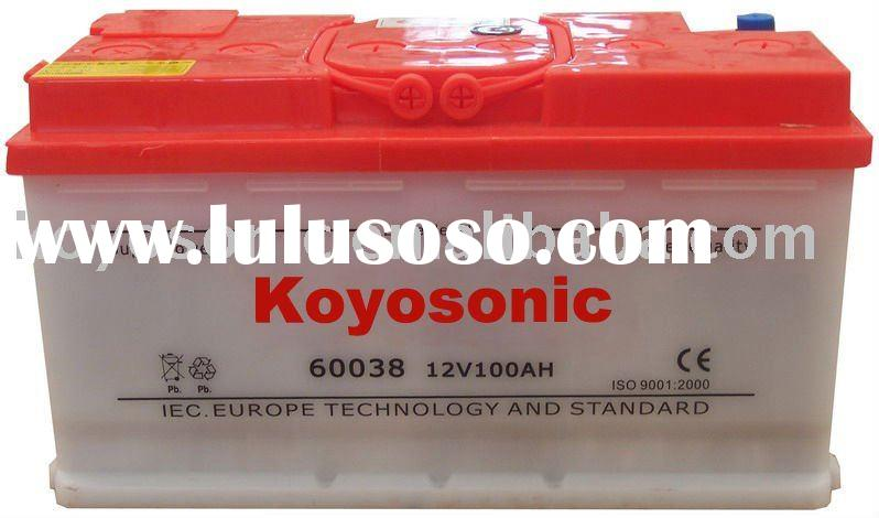 Top quality competitive exporting price 12V100AH Auto battery