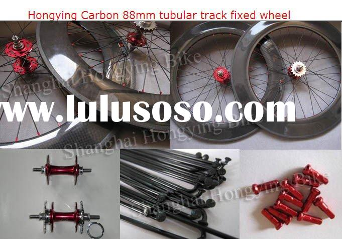 Top quality full carbon bicycle wheelset fixed gear 88mm tubular