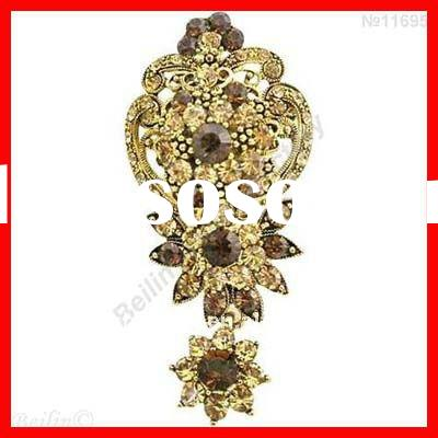 Top selling antique gold plating jewelry in dubai brooch
