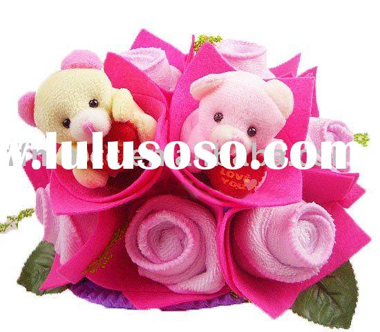 Towel flower bouquet artificial roses for wedding favor or valentine gift
