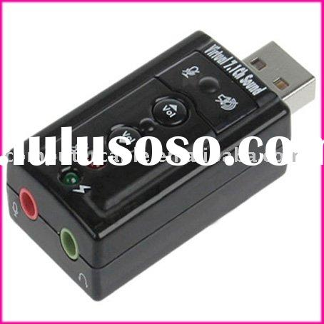 USB 2.0 External 7.1 Channel Audio Sound Card Adapter
