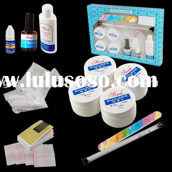 UV GEL KIT French NAIL Acrylic Glue SET