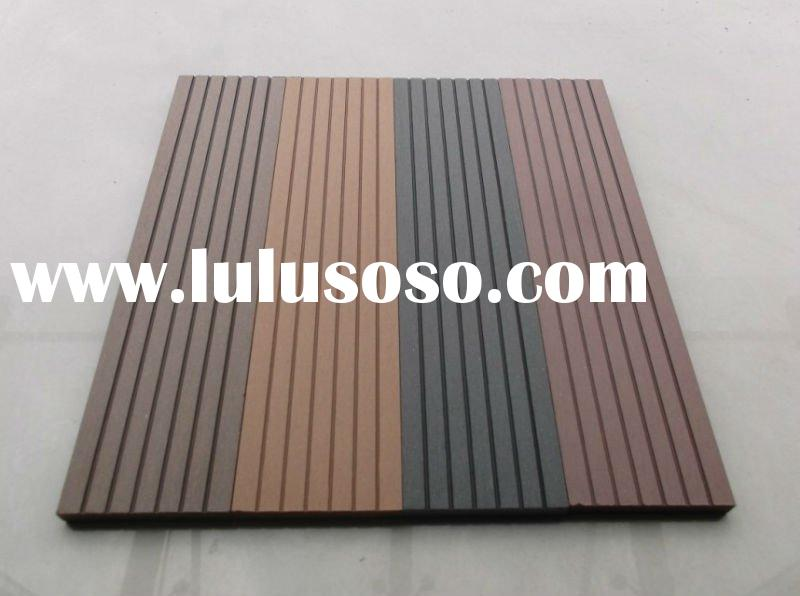 Wood Composite Panel : Interlocking wood plastic composite decking tiles