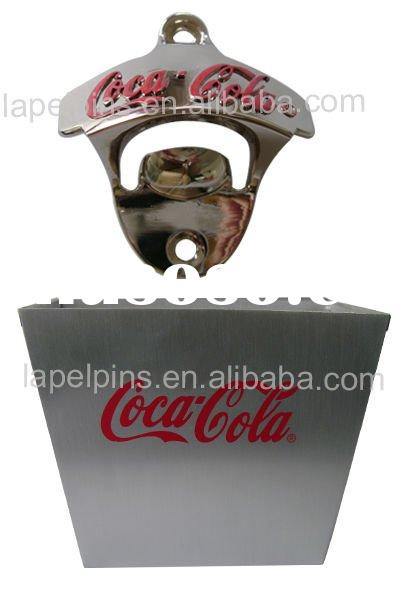 Wall Mounted Opener with Bottle Cap Catcher