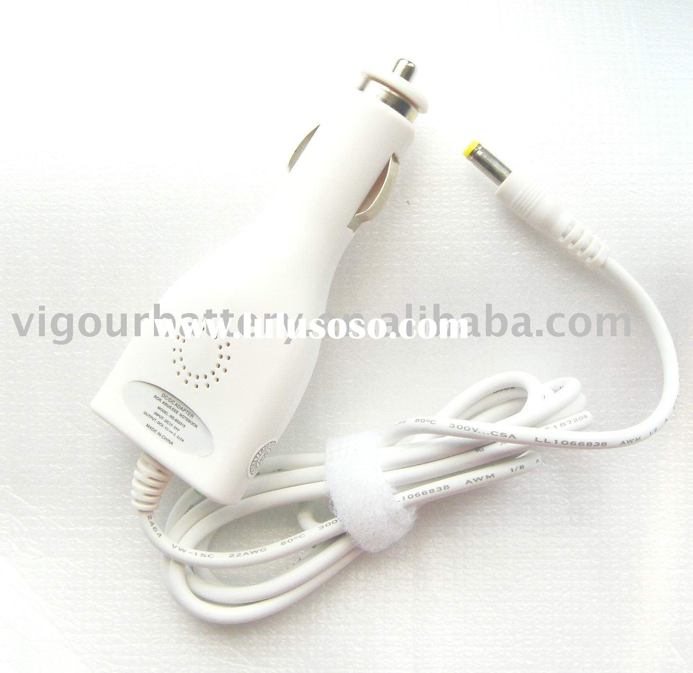 White and Black Mini laptop car DC/DC charger for Asus EEE PC 700 and Lenovo So9 S10 With GS CE UL F