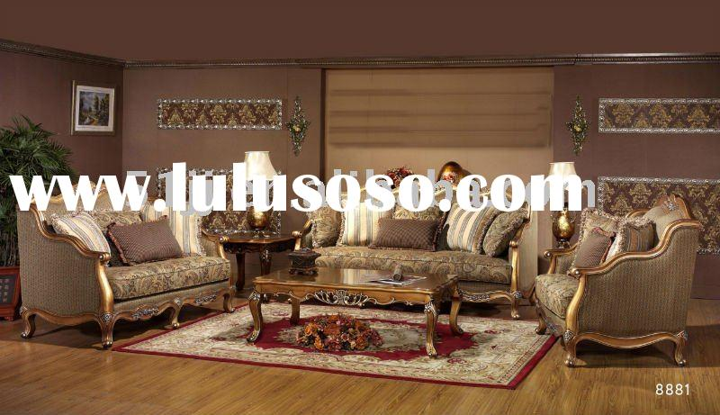Wooden European Living Room Furniture Sofa set MLG-8881