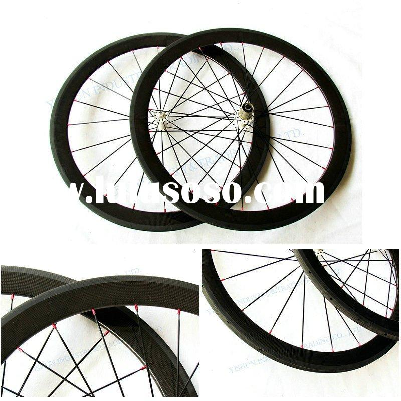 YS-CC50mm carbon bicycle wheels,carbon fiber race wheels, carbon wheels tubular