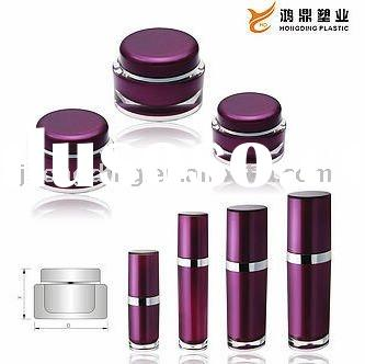 acrylic cosmetic jar and bottle packing