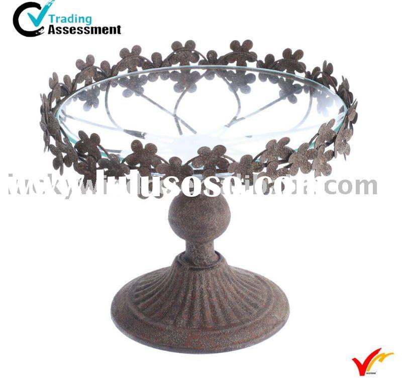 antique metal tray stand