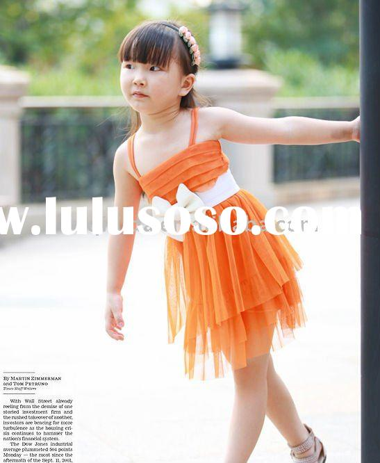 beautiful girl's dress/2-10years old /wholesale,OEM/in stock items