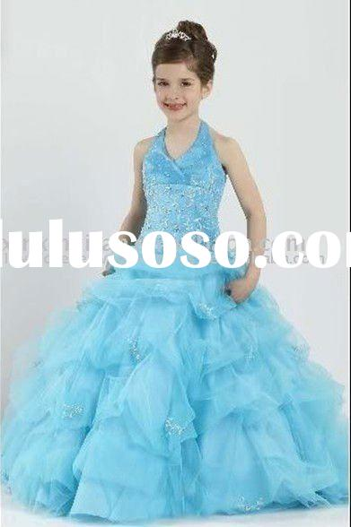 best selling wholesale flower girl dresses beauty queen kids gown dress