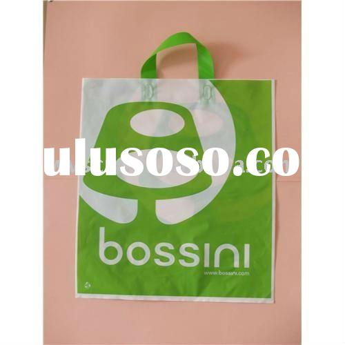 biodegradable plastic shopping bag with handle