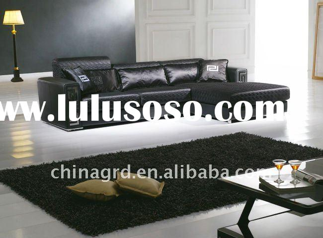 black leather corner sofa set