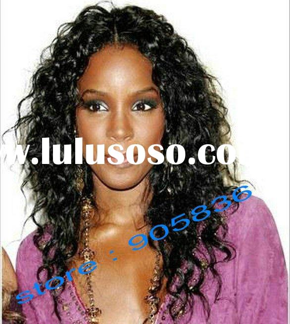 celebrity black curly human hair lace front wig paypal accept